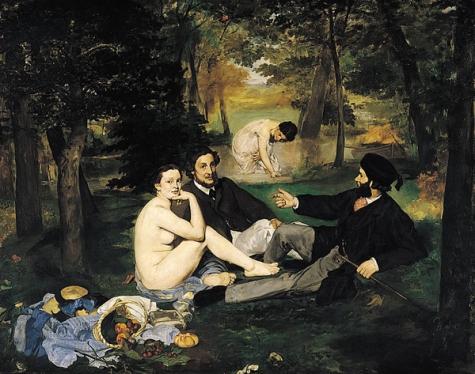 Dejeurner sur L'herbe Edouard Manet