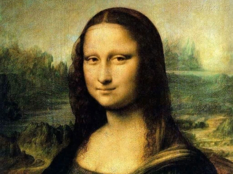 Detail from the Mona Lisa by Leonardo da Vinci