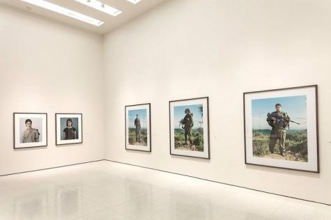 Intallation view - Rineke Dijkstra- A Retrospective Guggenheim New York 2012