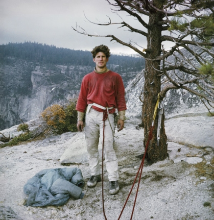 Self-portrait of the young climber in Yosemite Valley, 1967 by Galen Rowell