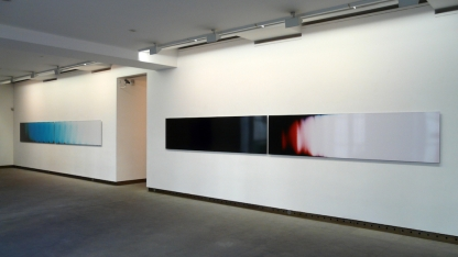 The Day That Nobody Died, Installation view, Unique C-type, 76.2x600 cm ©Broomberg & Chanarin