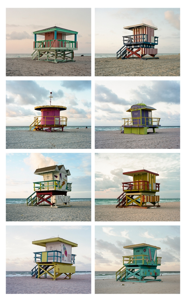 8 Lifeguard Stations, South Beach Miami