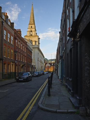 Christ Church viewed from Fournier Street, Spitalfields © Keith Greenough 2013