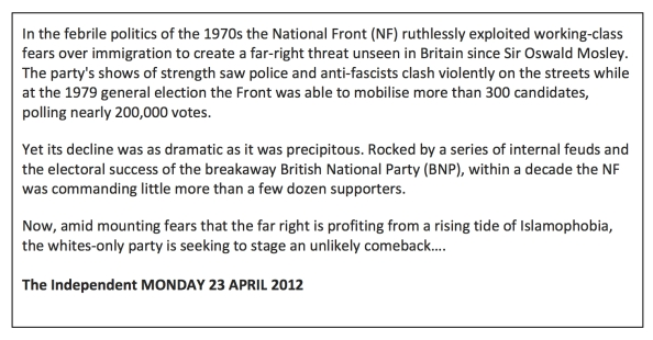 National Front Text