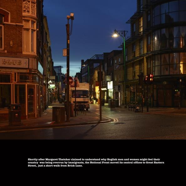 Junction of Brick Lane and Bethnal Green Road, January 2014 ©Keith Greenough 2014