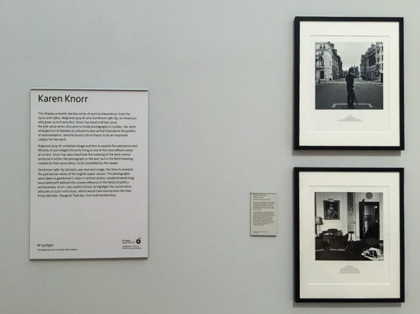 Display panels — Karen Knorr Tate Britain Exhibition - December 2014