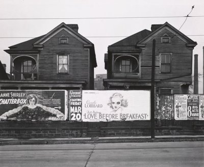 Walker Evans - Atlanta Georgia, Frame Houses and a Billboard, 1936