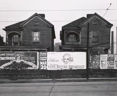 Walker Evans - Atlanta Georgia, Frame Houses and a Billboard, 1936