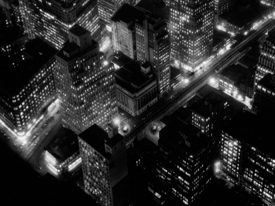 Berenice Abbott - Night View, New York, 1932