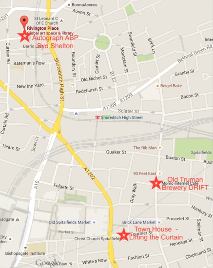 Map for Study Visit - East London Photography Festival