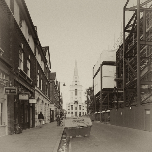 Brushfield Street and Christ's Church Spitalfields Keith Greenough 2015