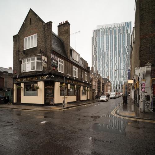 Brune Street from Toynbee Street, November 2015 ©Keith Greenough