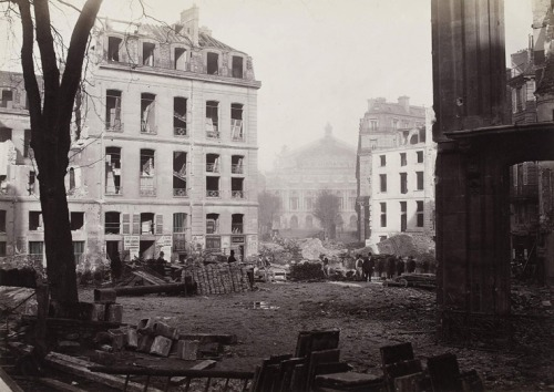 Construction of the avenue de l'Opéra, Charles Marville 1876