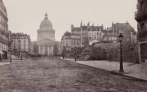 La Rue Souflet and the Pantheon. Charles Marville